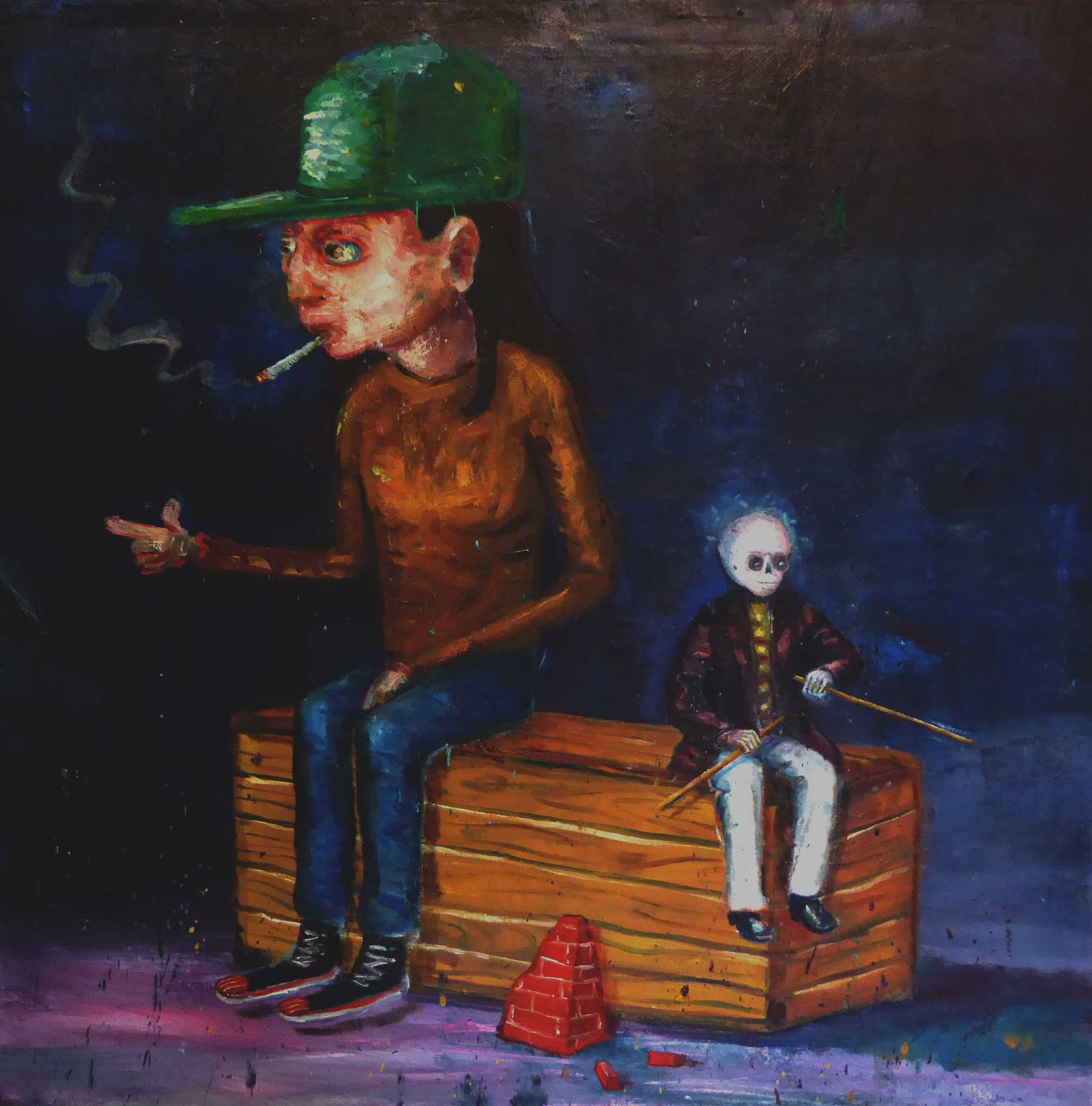 """Benched"" 91 x 91 cm"